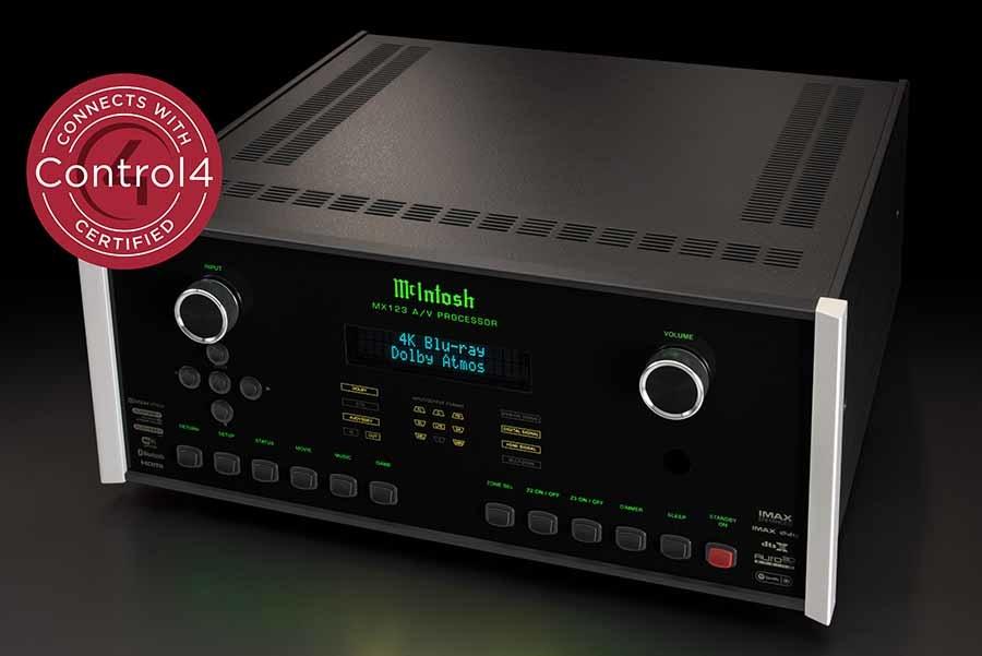 Control4 tanúsítványt kapott a MCINTOSH MX123 AV processzor