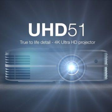 Optoma UHD51 PROJEKTOR-MAGÁVAL RAGADÓ 3D